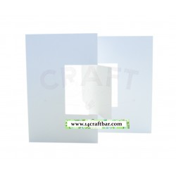 Blank Card - Swing Card/ white / square