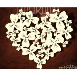 Chipboard - Heart from shamrock