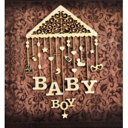 Chipboard -Baby boy carousel