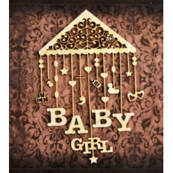 Chipboard -Baby girl carousel