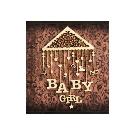 Chipboard -Baby girl carousel