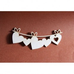 Chipboard - Hearts banner