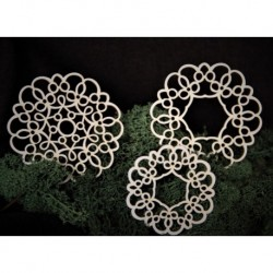 Chipboard - Set of lace napkins / 4pcs