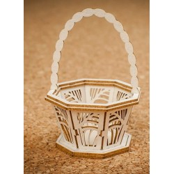 Chipboard - Decorative Basket Small (3D)