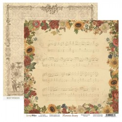 Scrapbooking Papers - FLOWERS STORY - Pad 12 x 12