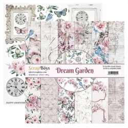 Scrapbooking Papers - DREAM GARDEN- Pad 12 x 12