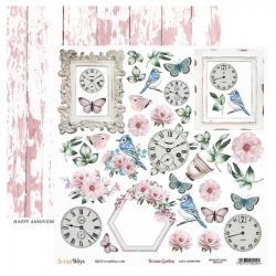 Scrapbooking Paper- 12x12 Sheet -DREAM GARDEN 07