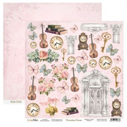 Scrapbooking Papers - VICTORIAN HOME - Pad 12 x 12