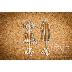 Chipboard - Wedding Mannequins  /2pcs