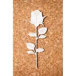 Chipboard - Single Rose / long