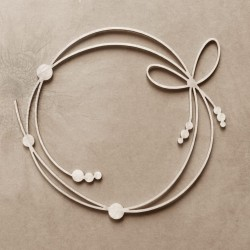 Chipboard - Tied frame with beads