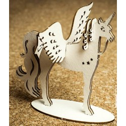 Chipboard 3D -  Unicorn with wings