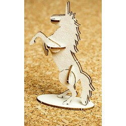 Chipboard -  Rainbow Unicorn /3D