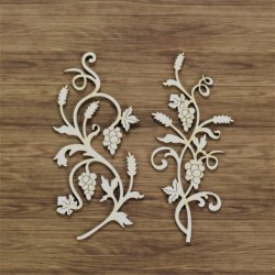Chipboard - Grape Ornaments / 2pcs