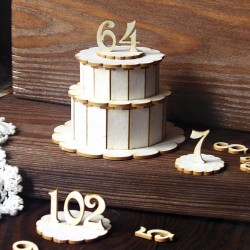 Chipboard - Two-layer Cake/ 3D