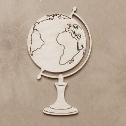 Chipboard - Globe