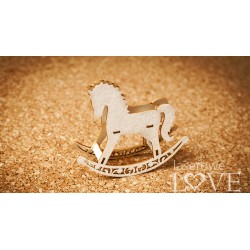 Chipboard - Carousel with ponies /3D