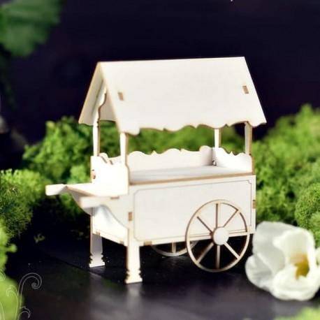 Chipboard 3D - Candy trolley