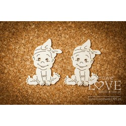 Chipboard 3D - Baby Girl / 2pcs