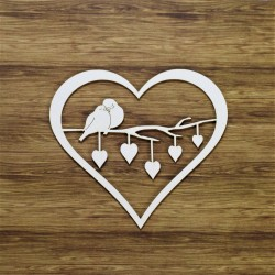 Chipboard - Heart/ Birds in Love