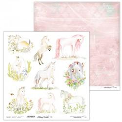 Scrapbooking Paper- 12x12 Sheet - Mysteroius Unicorn