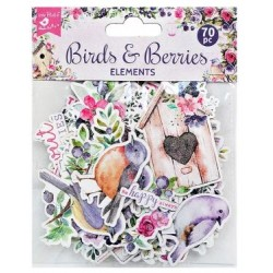 Ephemera DIE CUT Elements - Birds & Berries / 70pcs