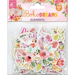 Ephemera DIE CUT Elements - Boho Dreams / 60pcs