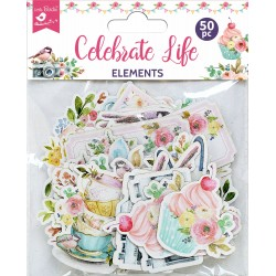 Ephemera DIE CUT Elements - Celebrate Life / 50pcs