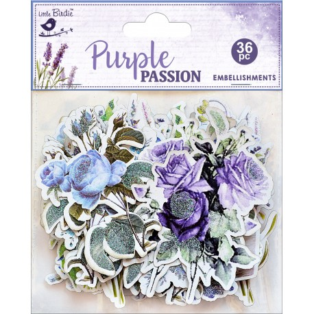 Ephemera DIE CUT Elements - Purple Passion / 36pcs