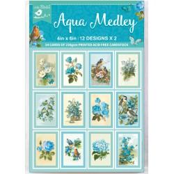 Ephemera / Journaling cards - AQUA MEDLEY