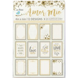Ephemera / Journaling cards - AMOR MIO
