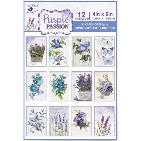 Ephemera / Journaling cards - PURPLE PASSION