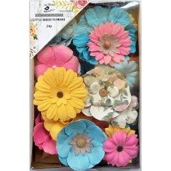 Little Birdie Flowers - ANDREA  / Vivid Palette / 24pcs