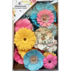 Little Birdie Flowers - ANDREA  / Vivid Palette / 24pcs