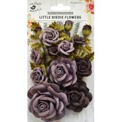 Little Birdie Flowers - ROSALIND /Mulberry / 21pcs