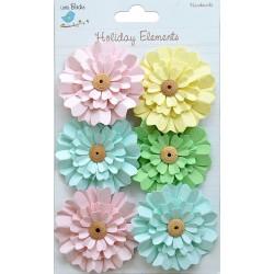 Little Birdie Flowers -DAISIES / Spring / 6pcs