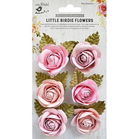 Little Birdie Flowers - SHARON /Blush / 6pcs