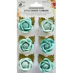 Little Birdie Flowers - SHARON / Arctic Ice/ 6pcs