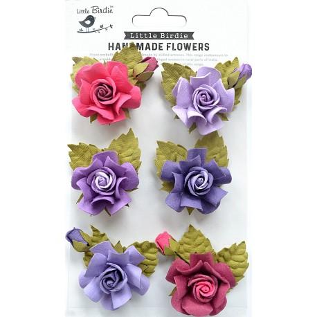 Little Birdie Flowers - TANIA /Birds and Berries/ 6pcs