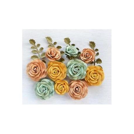 Little Birdie Flowers - WHITNEY / Pastel Palette Glitter/ 14pcs
