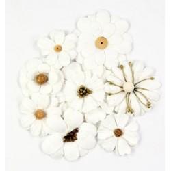 Little Birdie Flowers - SYMPHONY / Classic White / 8pcs