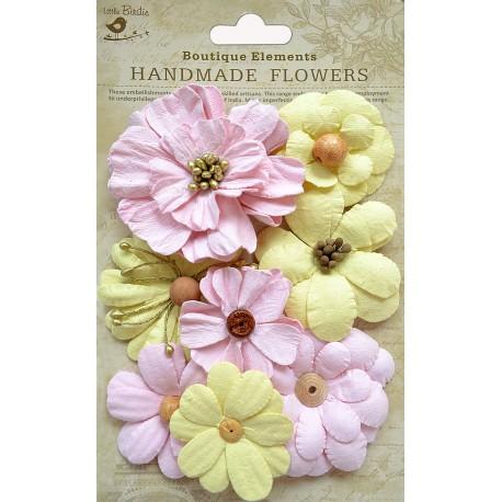 Little Birdie Flowers - SYMPHONY / Marshmallow / 8pcs