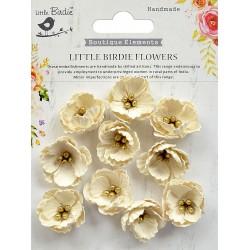 Little Birdie Flowers - EMBOSSED DAISIES / Moon Light / 60pcs