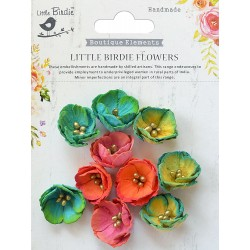 Little Birdie Flowers - EMBOSSED DAISIES / Vivid Palette/ 10pcs