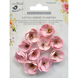 Little Birdie Flowers - EMBOSSED DAISIES / Pearl Pink/ 10pcs