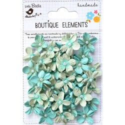 Little Birdie Flowers - PEARL PETITES / Pacific Blue/ 40pcs