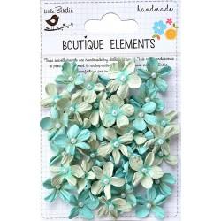 Little Birdie Flowers - PEARL PETITES / Pacific Blue/ 40pcs