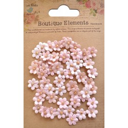 Little Birdie Flowers - BEADED MICRO PETALS / Carnation Pink / 60pcs