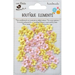Little Birdie Flowers - BEADED MICRO PETALS / Marshmallow / 60pcs