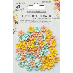 Little Birdie Flowers - BEADED MICRO PETALS / Pastel Palette / 60pcs